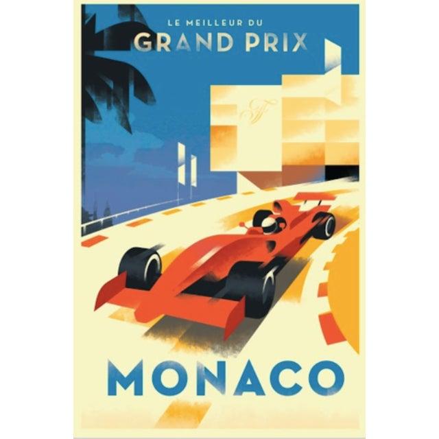 Monaco Grand Prix Comtemo/Retro Design Poster - Image 2 of 2