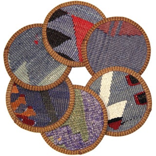 Kilim Afyon Coasters - Set of 6
