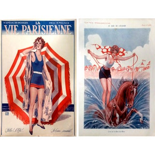 1930s La Vie Parisienne Vacation Theme Prints-Pair