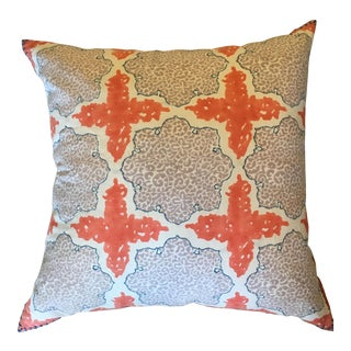 Gray & Orange Euro Pillow