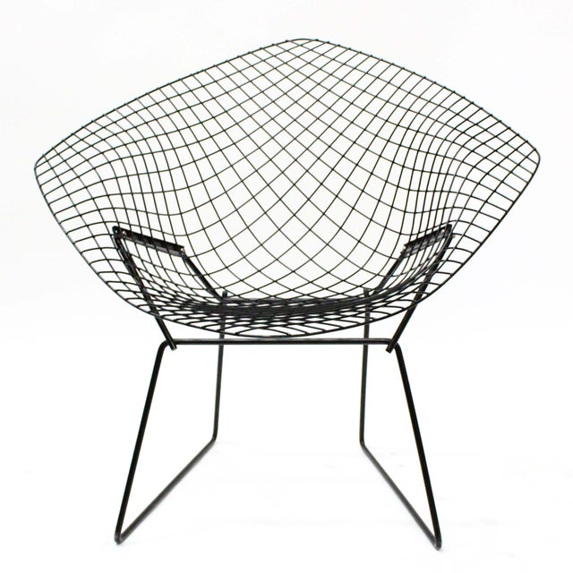 Harry Bertoia Diamond Black Chairs - A Pair - Image 3 of 5