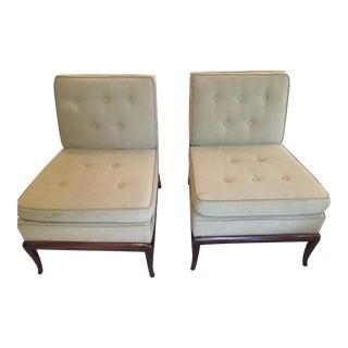 T.H. Robsjohn-Gibbings Slipper Chairs - A Pair