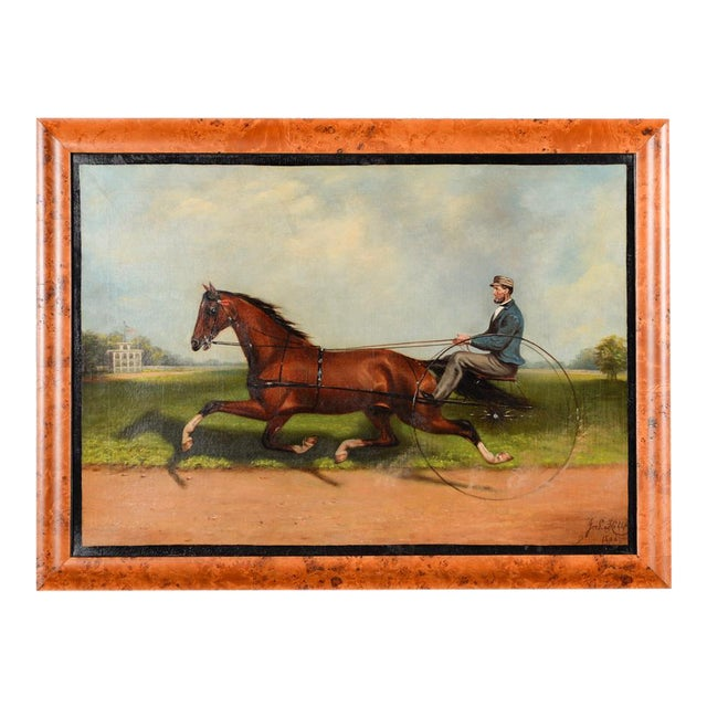James Hill -19th Century Famous Horse Racing Oil Painting - Image 2 of 10