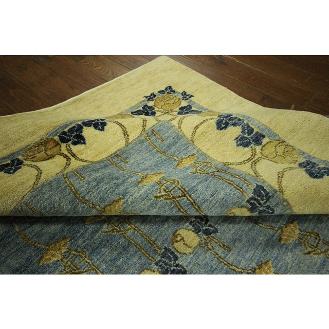 Super Gabbeh Blue Wool Rug - 9' x 12' - Image 9 of 10