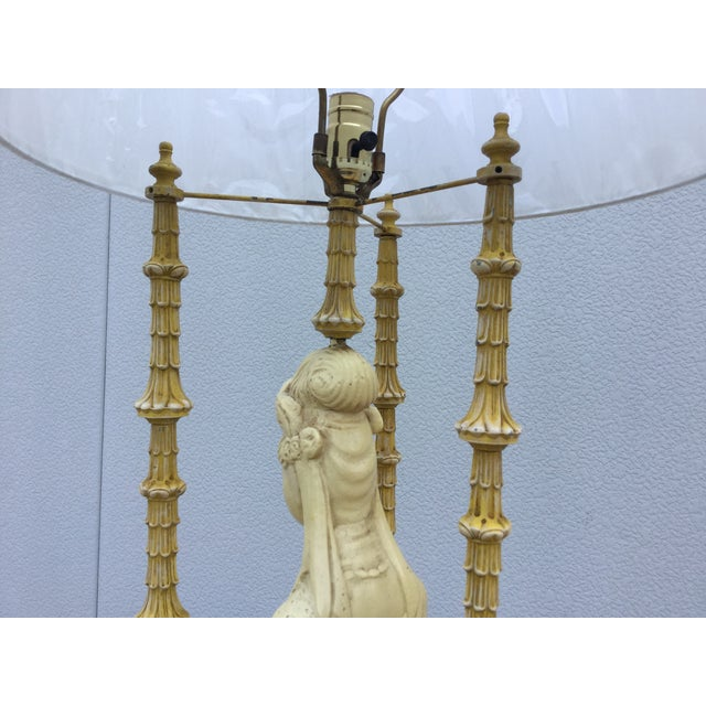 1940's James Mont Style Geisha Table Lamp - Image 8 of 11