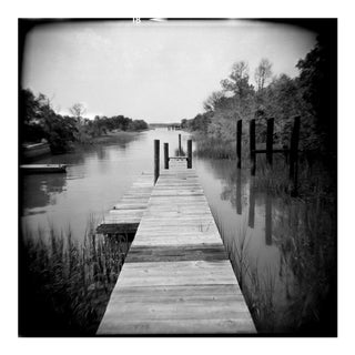 "Black and White Photograph Titled ""Folly Dock"" From The Series ""Homeland"""
