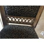 Image of Maitland Smith Cheetah Print Bar Stool