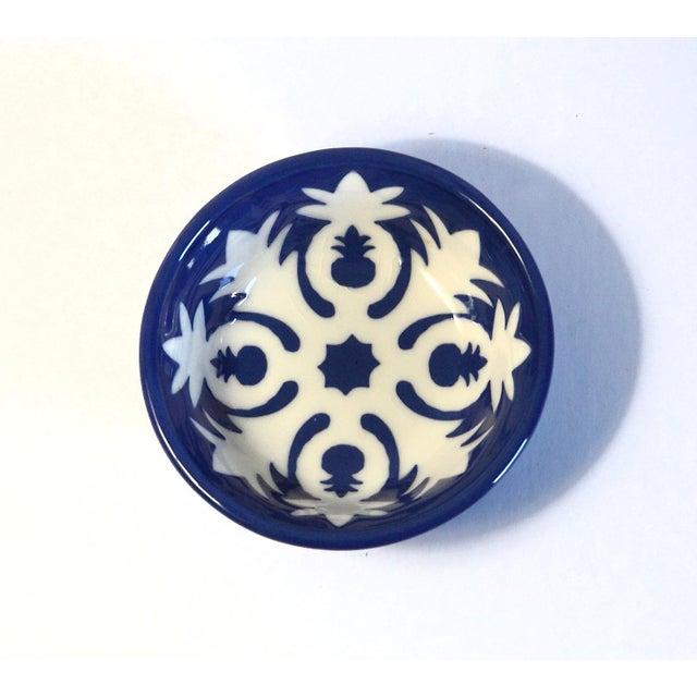 Image of Handmade Ceramic Pineapple Motif Bowl