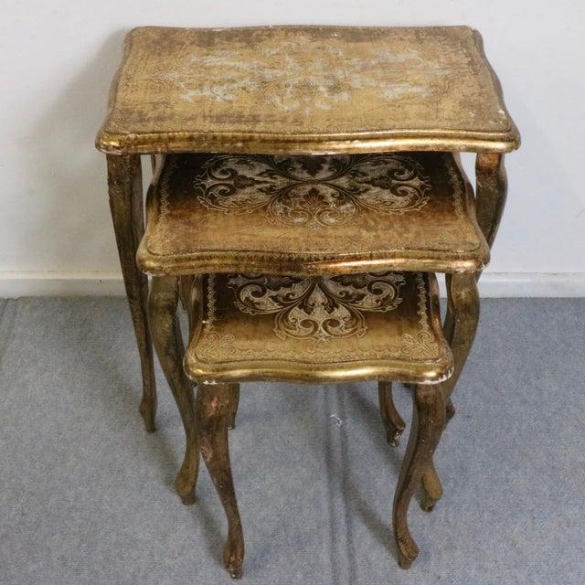 Italian Florentine Nesting Tables – Set of 3 - Image 2 of 7