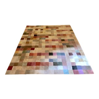 Contemporary Multicolored Wool Rug by Pottery Barn