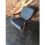 Image of Adolf Relling Mid-Century Refinished Gray Chair
