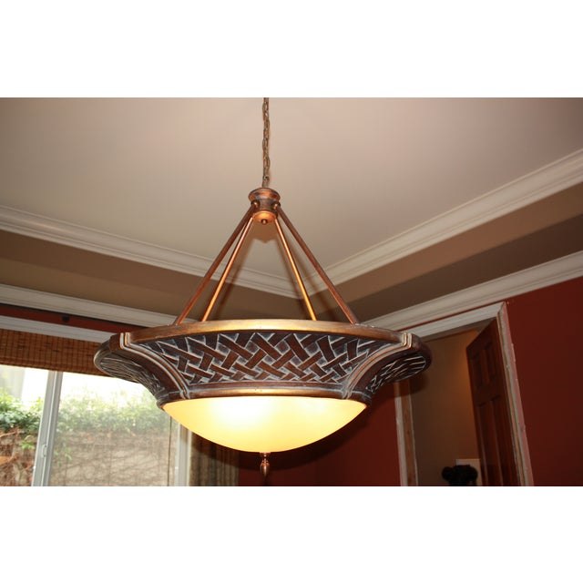 Large Tangier Conection Golden Bronze Chandelier - Image 3 of 5