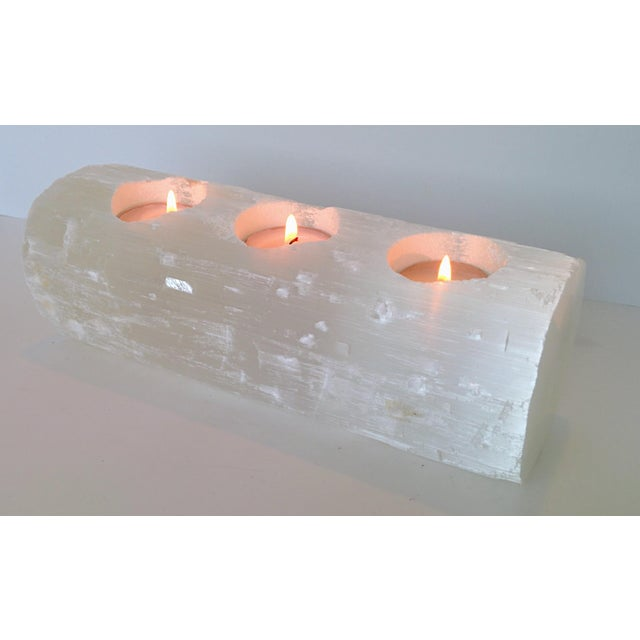 Selenite Branch Tealight Candle Holder - Image 3 of 8