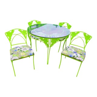 Retro Vintage Lime Patio Set