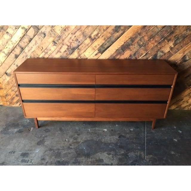 Image of Mid-Century Walnut & Ebony Refinished Dresser