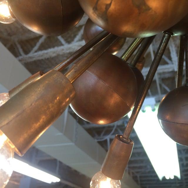 Vintage Brass Sputnik 20 Light Chandelier - Image 8 of 8