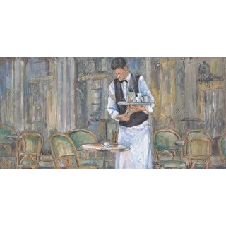 "Original Acrylic on Canvas ""The Waiters Ii"""
