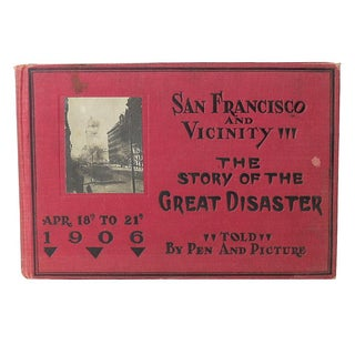 1906 San Francisco Disaster Book, First Edition