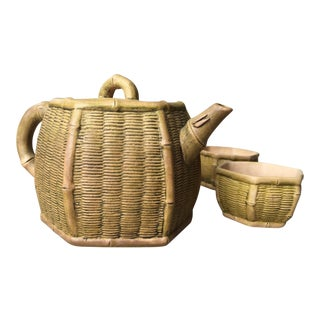 Chinese Yixing Zisha Teapot & Cups- Set of 3