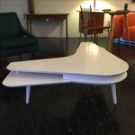 Image of Mid-Century White Lacquered Boomerang Coffee Table