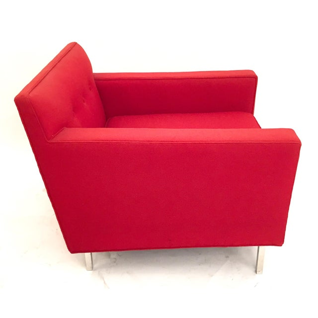 Upholstered Red Dunbar Arm Chair - Image 3 of 6