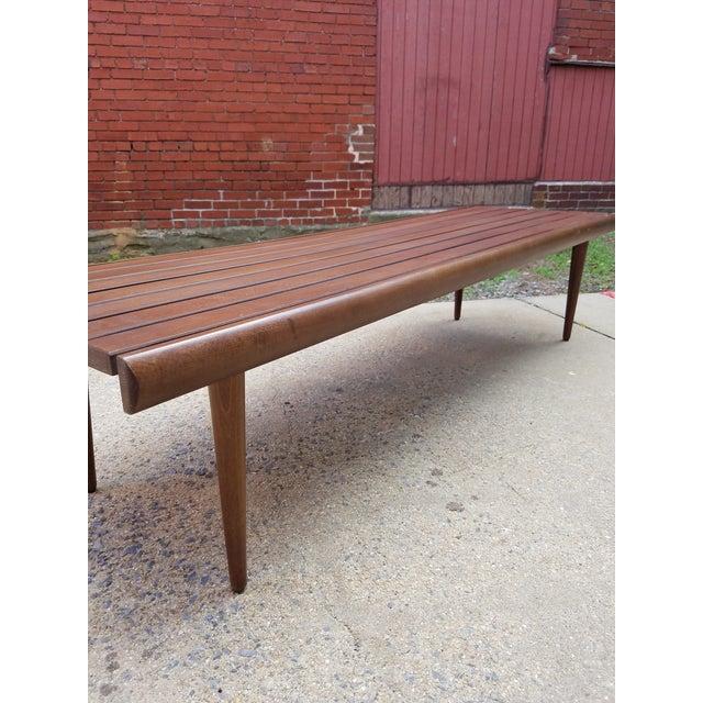Mid-Century Slat Bench Coffee Table - Image 5 of 7
