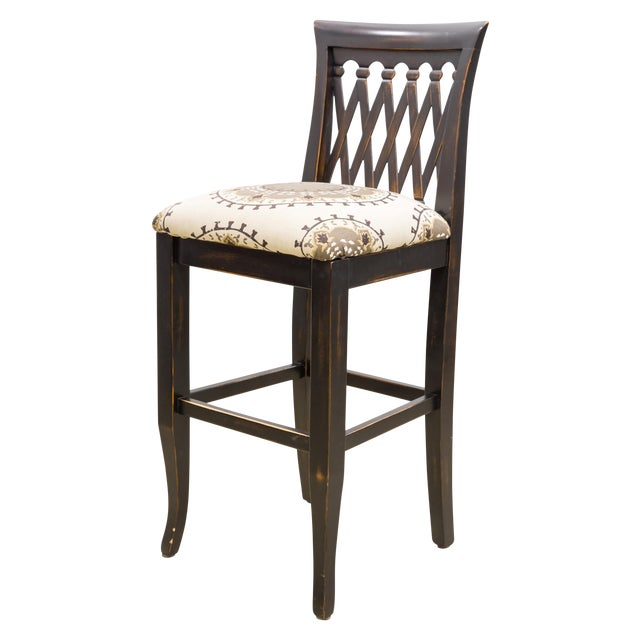 Emerson Lattice Back Counter Stool - Image 1 of 4