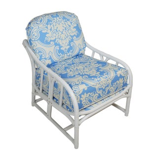 Ficks Reed White Rattan Lounge Chair