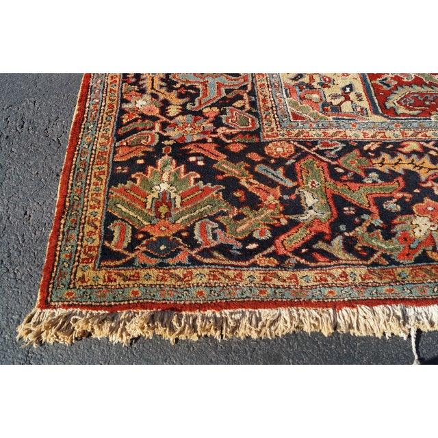 Antique Hand Woven Persian Heriz Rug - 11′6″ × 16′8″ - Image 5 of 10
