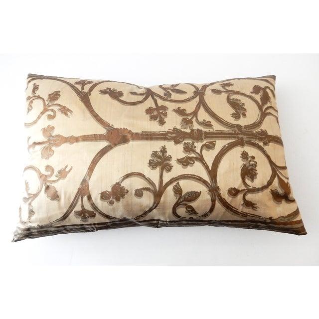 Hand painted silk lumbar pillow chairish for Hand painted pillows