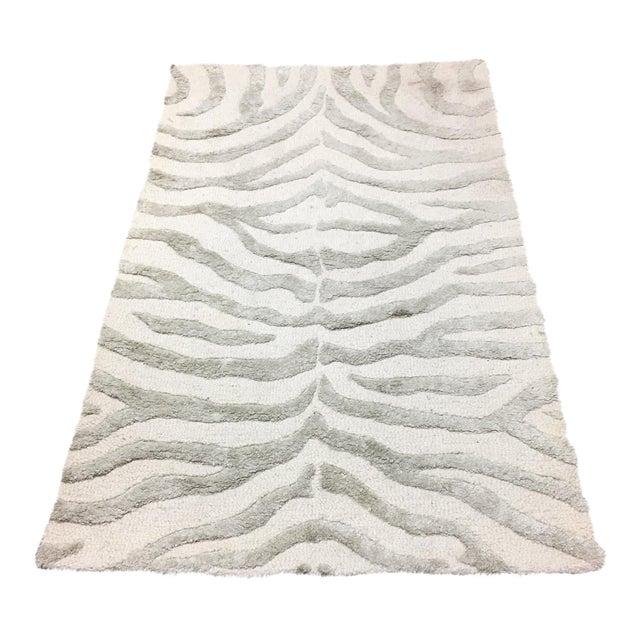 Zebra Rug Wayfair: Gray Zebra Print Area Rug - 3' X 5'
