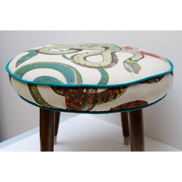 Snake Upholstered Footstool - Image 4 of 6