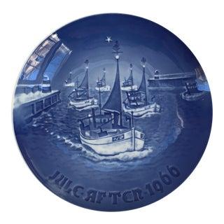 "Vintage Danish Porcelain ""Home for Christmas"" Royal Copenhagen Wall Plate"