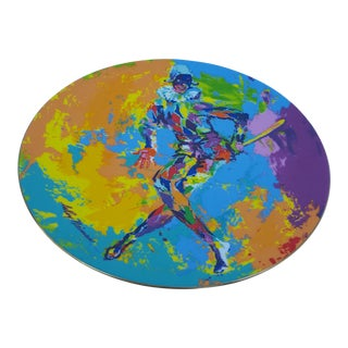 1974 Leroy Neiman - HARLEQUIN - Colorful Decorative Ceramic Plate .