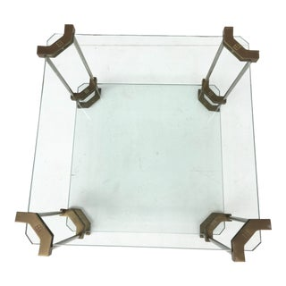 Noble House Two-tier Brass and Glass Side Table by Peter Ghyczy Selection