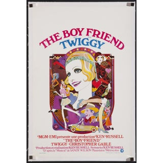 "Belgian 1971 Poster of Twiggy in ""The Boy Friend"""
