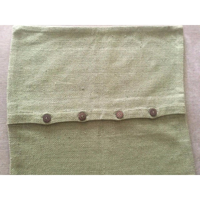 West Elm Green Tea Hand Loomed Silk Pillow Cover - Image 8 of 11
