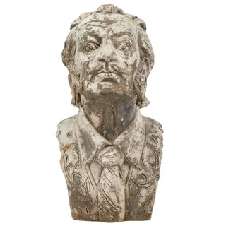 Salvador Dali Vintage Stone Sculpture Bust