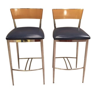 Loewenstein Modern Bar Stools - A Pair