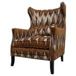 Image of Bernhardt Chevron Wingback Accent Arm Chair
