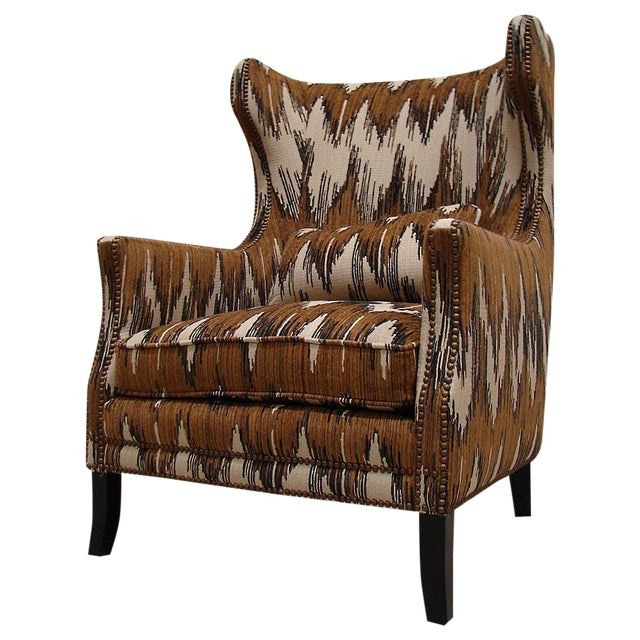 Chevron Accent Chair With Arms: Bernhardt Chevron Wingback Accent Arm Chair