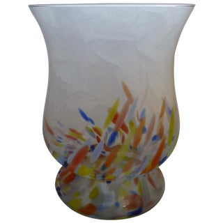 1960's Large Bohemian Glass Vase
