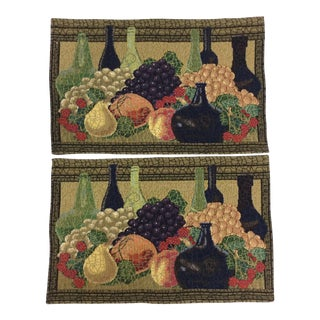 Dense Tapestry Placemats - A Pair