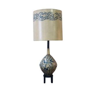 Vintage Swedish Hand Painted Lamp
