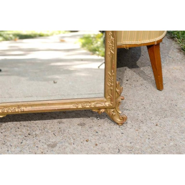 Italian Hand-Carved Rococo Gilt Mirror - Image 4 of 6