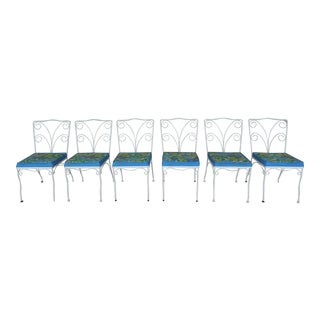 Vintage Mid-Century Wrought Iron Chairs - Set of 6