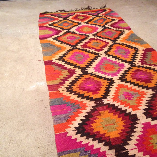 Vintage Turkish Kilim Runner - 4' X 9' - Image 6 of 7