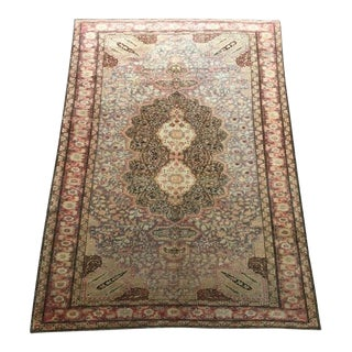 Antique Anatolian Turkish Burunduz Rug - 4′9″ × 6′9″