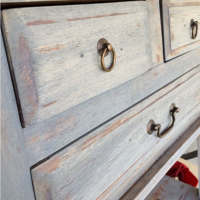 Refinished Three Drawer Entrance Table - Image 4 of 4