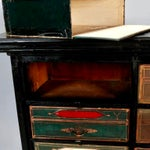 Image of Late 19th Century Antique French Ebonized Oak Linen Chest
